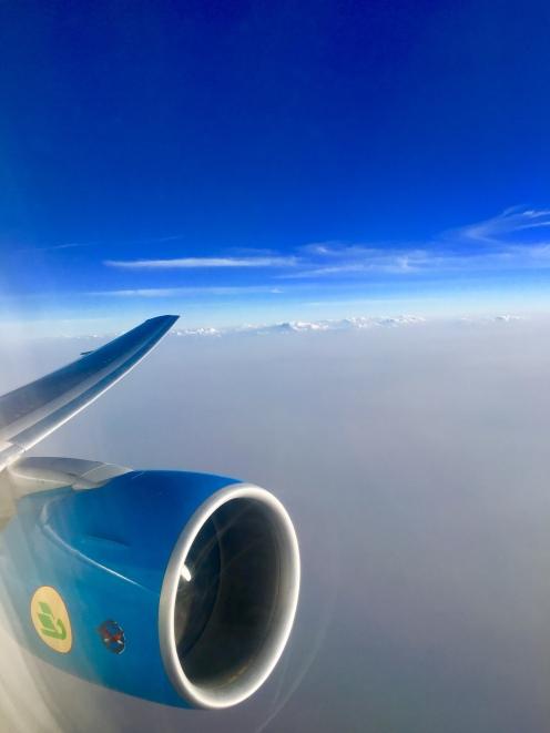 Flying into Tashkent, Uzbekistan