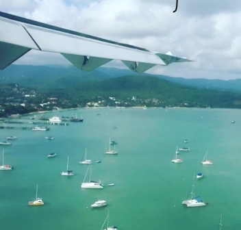 Flying into Koh Samui
