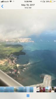 Flying into Sri Lanka